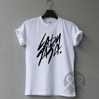 Lady Gaga shirt, Tumblr tee, Black & White t shirt, Unisex T-Shirt Size S to XL