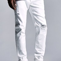 Bullhead Denim Co. Destroyed White Skinny Jeans - Mens Jeans - White