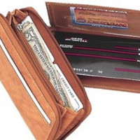 Ladies' Wallet With Single Zipper