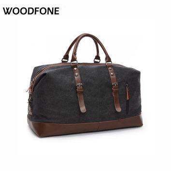 14850c2f9b16 Original Z.L.D Canvas Leather Men Travel Bags Carry on Luggage Bags Men Duffel  Bags Travel Tote