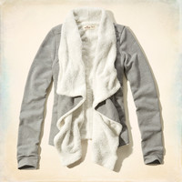 Pebbly Beach Sherpa Lined Cardigan