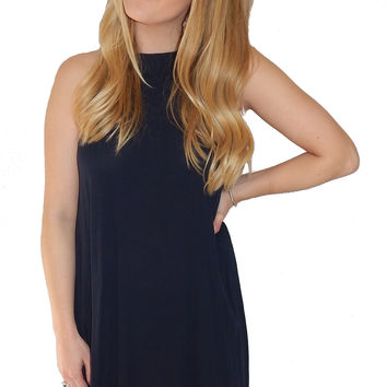 Martini Shift Dress- Navy