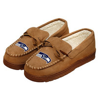 Seattle Seahawks Official NFL Mens Moccasin Slippers