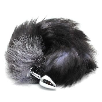 Plug Stainless Steel Faux Fox Tail Toy Stopper Gift Valentine's Day