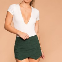 Sissy Hunter Green Corduroy Envelope Skort