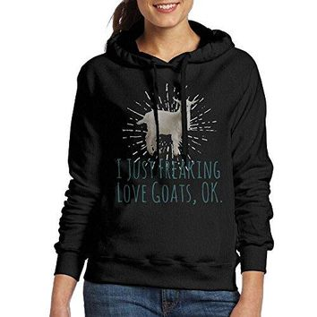 I Just Freaking Love Goats Ok Women's Pullover Hoodie