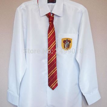Harri Potter Shirt Blouse Gryffindor Cosplay Costume 4 styles Halloween Gift 11 Size Christmas Gift 4 House Harry's Shirt