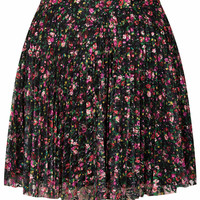 MINI FLORAL LACE PLEAT SKIRT