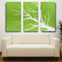 Nature Canvas Print, Tryptic Art, 3 Set Canvas Art, Large Canvas Print, Zen Print, Tree Canvas Art, 24x36 Wrapped Canvas, Living Room Art