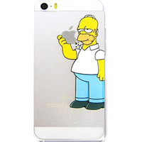 Homer Simpson Eating Logo Clear Transparent Case For Apple Iphone 6/6s (4.7-Inch)