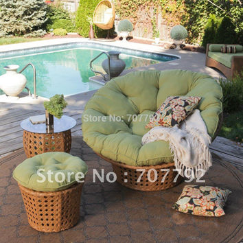 All Weather Wicker Outdoor Papasan Chair Set