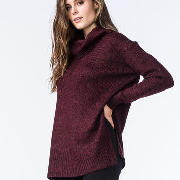 RAZZLE DAZZLE Womens Side Slit Cowl Pullover | Pullovers