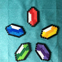 Zelda Perler: Rupee Pick Your Color