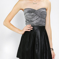 Sparkle & Fade Metallic Bodycon Cropped Top - Urban Outfitters