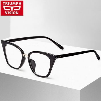 Cat Eye Eyewear Frames Optical Myopia Clear Lens Glasses Frame Female Hipster Vintage Spectacle Frame Big Eyeglasses Women Brand