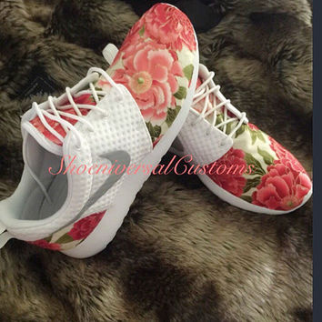 Floral Nike Roshe Run Custom Sneakers