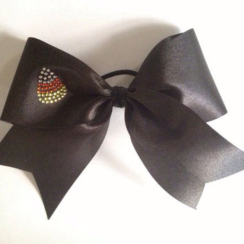 Candy Corn Halloween Cheer Bow by TheFiercestFandom on Etsy