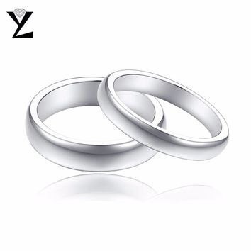 YL 925 Sterling Silver Men's Ring Couple Wedding Engagement Rings for Women Fine Jewelry Ring Size 8