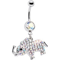 Aurora Gem Good Luck Elephant Belly Ring | Body Candy Body Jewelry