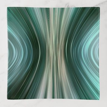 Glacier Green Driving Dreams Square Trinket Tray
