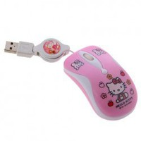 Cute Hello Kitty Retractable Optical Mouse(Pink) Hot Sale At Wholesale Price - Gadgetsdealer.com