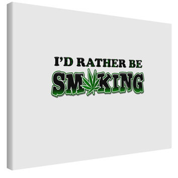 I'd Rather Be Smoking Printed Canvas Art Landscape - Choose Size