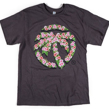 Heat Wave Hyper Floral T-Shirt Charcoal
