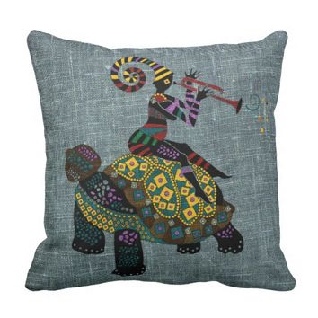 "African fantasy Throw Pillow 16"" x 16"""