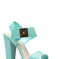 Mint Locked Chuinky Single Sole Heels