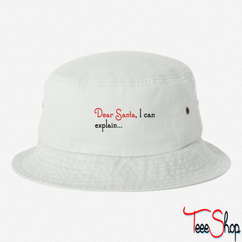 Dear Santa I Can Explain bucket hat