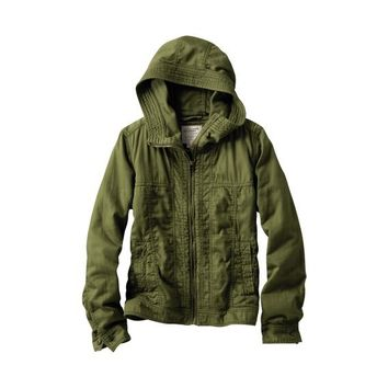 WOMEN Military Hooded Jacket