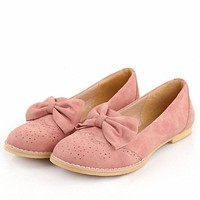 New High Quality Genuine cute bow Flats Shoes Fashion Sexy Women Casual Shoes Size 34-43 Pink Blue Beige Ballet Shoes