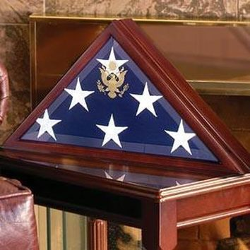 Flag Case and Military Medals Display Cases Hand Made In The Usa Hand Made By Veterans