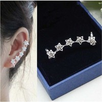 Crystal Stars Earring Wrap Cartilage Earring