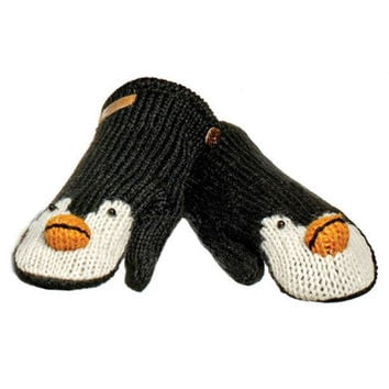 Peppy The Penguin Knit Mittens