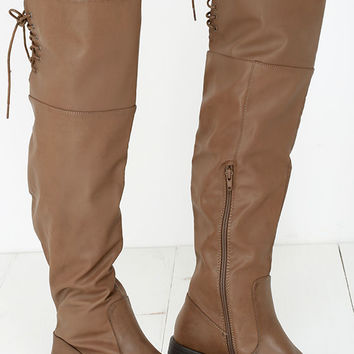 Out West Taupe Over the Knee Boots