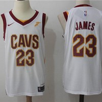 Best Deal Online Basketball Jerseys Cleveland Cavaliers # 23 LeBron James White