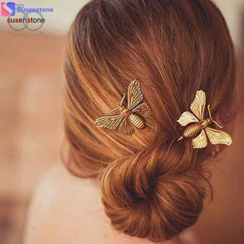 SUSENSTONE 1PC Women Butterfly Hair Clip Hair Accessories Headpiece
