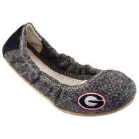 Georgia Bulldogs Women's Bimini Envelope Vamp Flats – Gray
