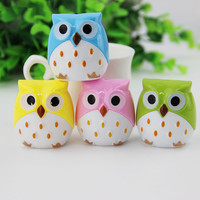 1pcs Korea Creative Kawaii Owl Pattern Pencil Sharpener Cutter Knife Learning Office Stationery Random Color