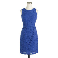 SLEEVELESS FLORAL LACE SHEATH DRESS