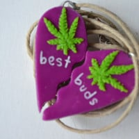 Purple Haze Best Buds Weed Friendship Necklace
