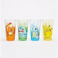Pokemon Pint Glasses 4 Pack - 16 oz - Spencer's
