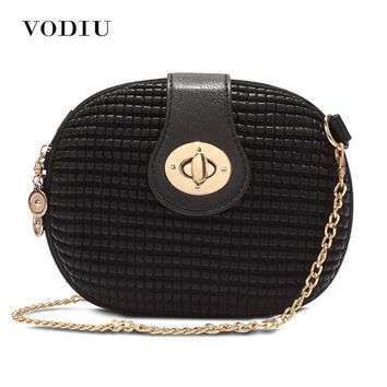 women bag handbags tote over shoulder crossbody sling summer leather round small chain Lock zipper phone luxury brand black