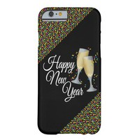 Happy New Year I Champagne Glasses Barely There iPhone 6 Case
