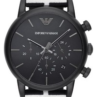 Men's Emporio Armani Chronograph Twill Strap Watch, 41mm