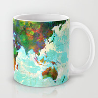 Abstract Map of the World Mug by Gary Grayson