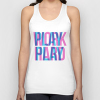 WORK HARD. PLAY HARD. Unisex Tank Top by Good Sense