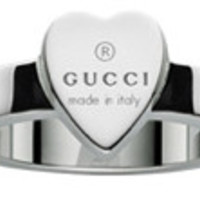 GUCCI Mod. THIN HEART Anello/Ring ARGENTO/SILVER Size 52