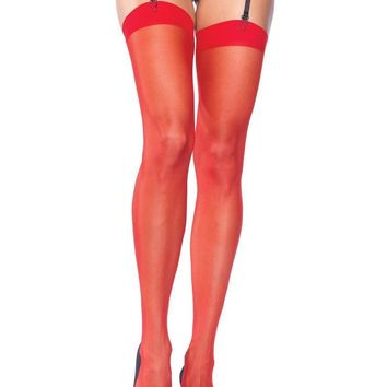 PLUS SIZE SHEER STOCKINGS PLUS SI RED
